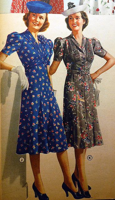 1939 - Would love to find a pattern for this dress!