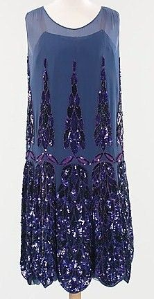 Circa 1925 silk Evening Dress by Anne & Thérèse, French.
