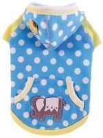The Elliot Hoodie by Ruff Ruff Couture® is sure to brighten up a dull  winter day  Featuring fun aqua blue polka dot french terry, sparkling  elephants, two-scoops of ice cream and lemon accents, its a must-have  look for the season. Be sure to get the matching Ellie Hoodie for you  little girl Proudly made in the U.S.A. br