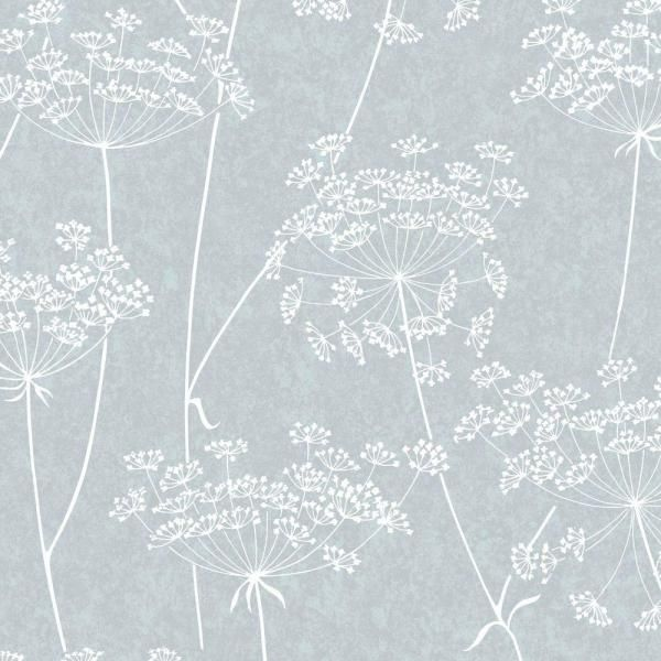 Graham Brown Aura Blue Vinyl Strippable Wallpaper Covers 56 Sq Ft 33 302 The Home Depot White And Silver Wallpaper Grey Wallpaper Floral Wallpaper