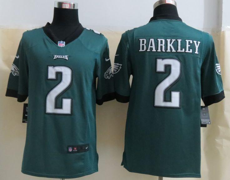 Cheap Wholesale 2014 Regular Season Mens Philadelphia Eagles #2 Matt Barkley Nike Midnight Green Limited Jersey Size S-XXL Instock,Factory Price,Free Shipping,Contact US