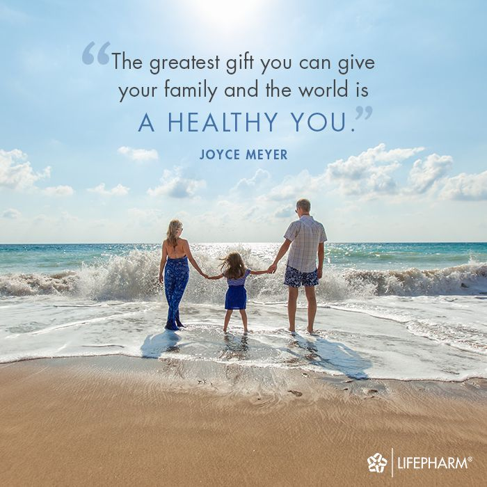 Take care of yourself so you can be there for your loved ones.  #Inspiration #MondayMotivation #Quote #StayHealthy #Health #Family #Gifts