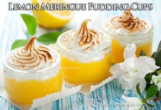 Lemon Meringue Pudding Cups
