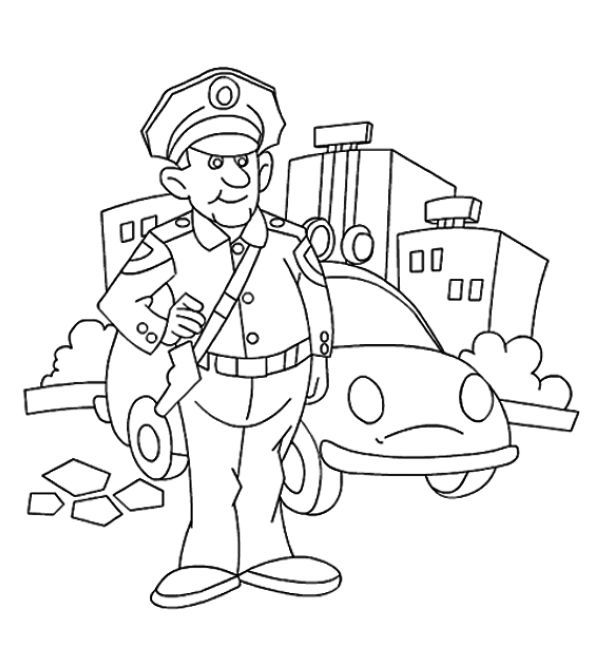 Printable Policeman Coloring Pages Free Coloring Sheets Coloring Pages For Kids Coloring For Kids Coloring Pictures