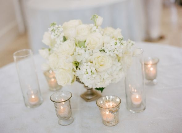 Beautiful arrangement of flowers.  Would be perfect for a bridal shower.