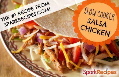Slow-Cooker Salsa Chicken Recipe by CHEF_MEG via @SparkPeople