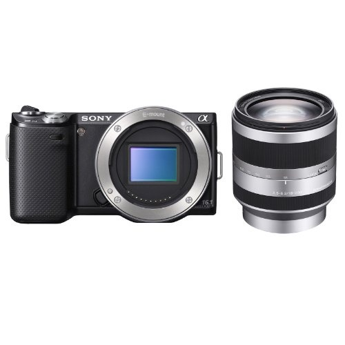 Sony NEX-5N/B 16.1MP Compact Interchangeable Lens Digital Camera + Sony E-Mount SEL18200 18-200mm F3.5-6.3 AF Zoom Lens