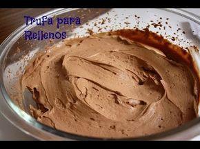 Trufa de Chocolate - Especial para rellenos y tartas - YouTube