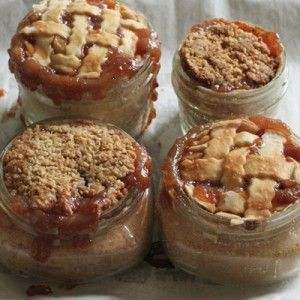 A baked pie in a canning jar!  Awesome!