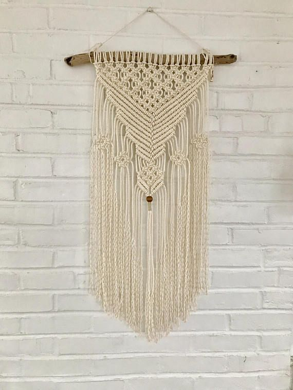 70s Macrame Is Back With A Modern Twist This Gorgeous Macrame Wall Hanging Is Made With Cotton Rope The Wall Hang Macrame Wall Hanging Modern Macrame Rope Art