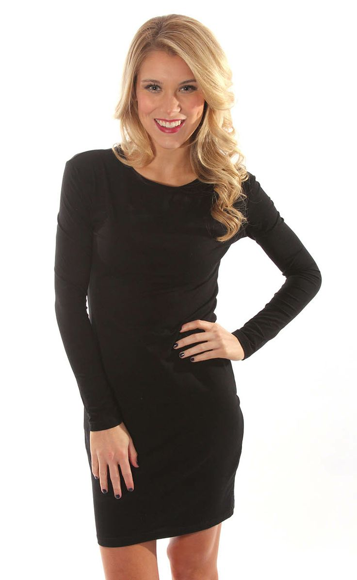 long sleeve fitted black cheap dresses « Bella Forte Glass Studio