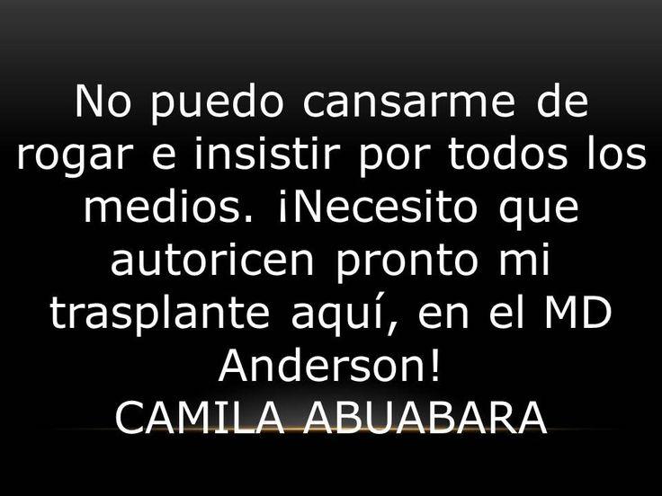 """Las palabras de CAMILA ABUABARA """" Por favor, no me dejen sola"""