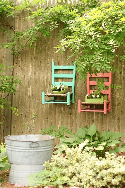 mini chair planters..cute