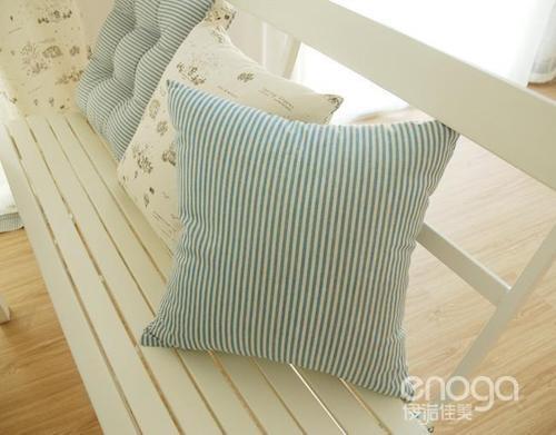 blue white stripes ikea style throw pillow case decor