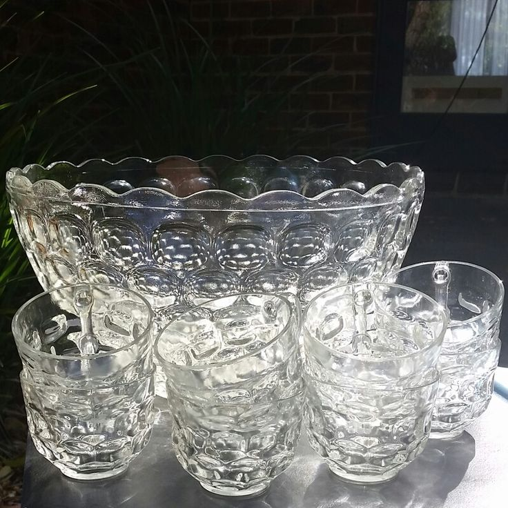 Gorgeous op shop find. Punch bowl and glasses.