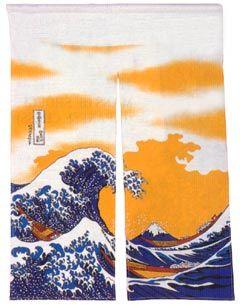 Hokusai Noren Curtain