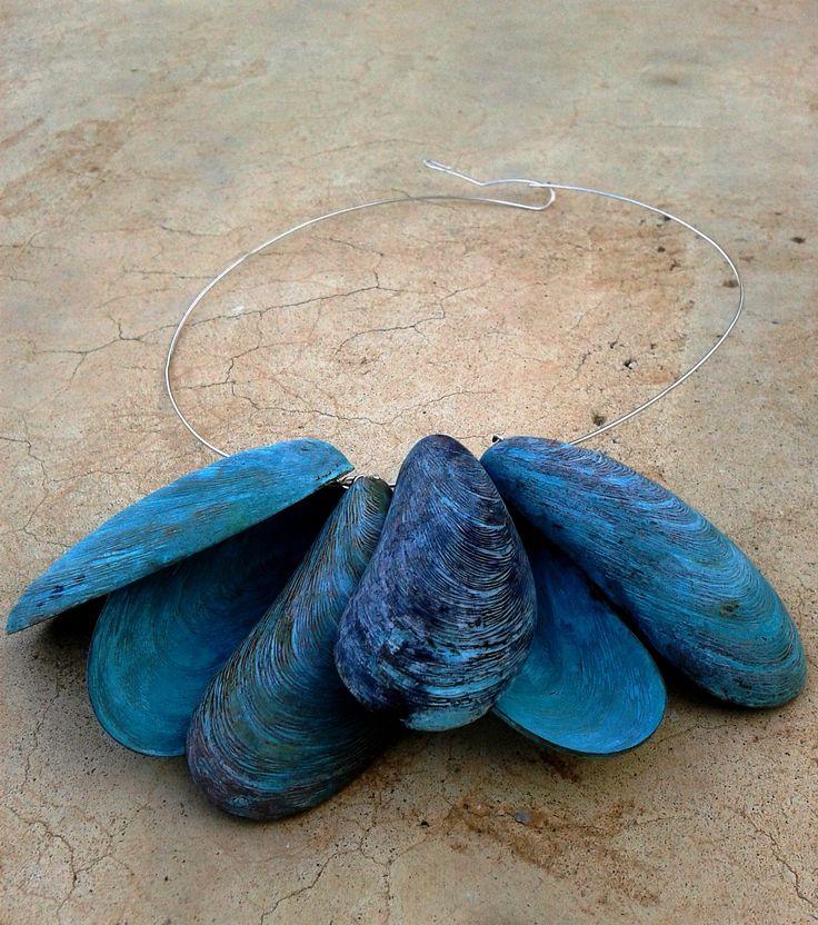 'Blue' patina, bronze, silver www.yiotavogli.com