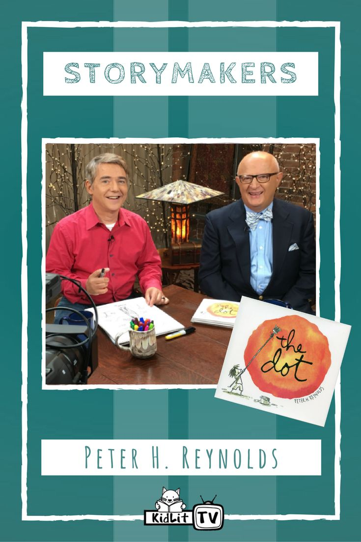 Did you know over 120 countries participate in International Dot Day? Learn this fact and more as StoryMakers host Rocco Staino sits down with Peter H. Reynolds, an award-winning author/illustrator and the inspiration behind International Dot Day. Watch now at KidLit TV