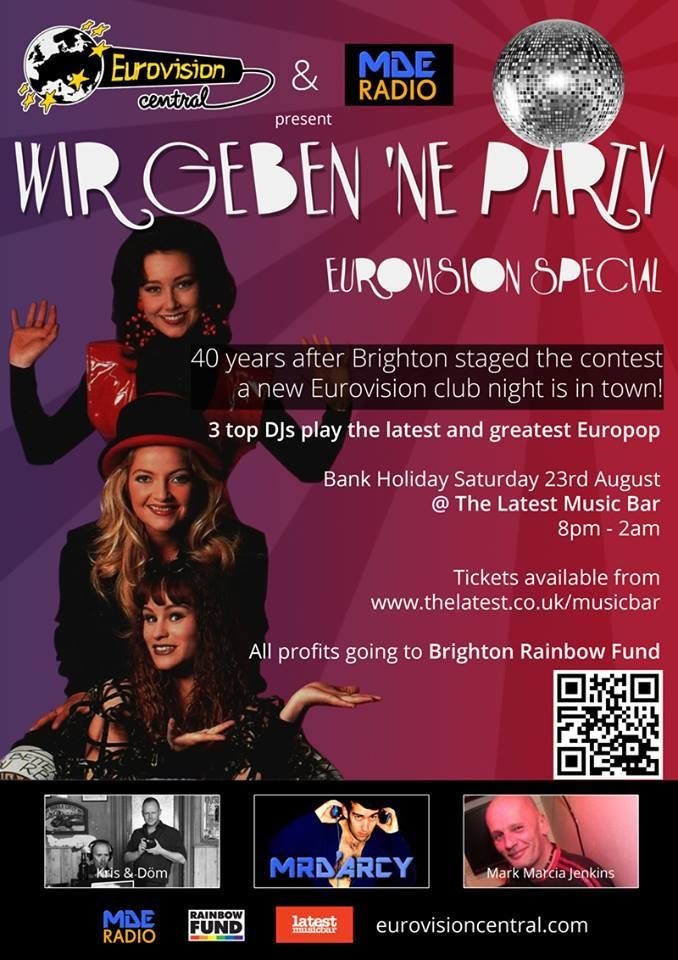 poplovedance: Eurovision party set to Brighton up the August bank holiday weekend!