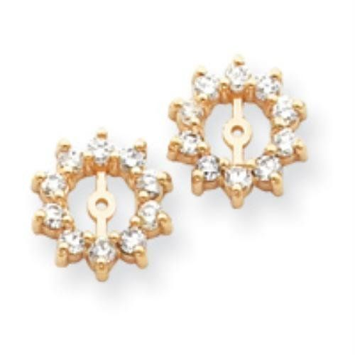 14k Yellow Gold A Diamond Earring jacket Real Goldia Designer Perfect Jewelry Gift for Christmas goldia. $709.71