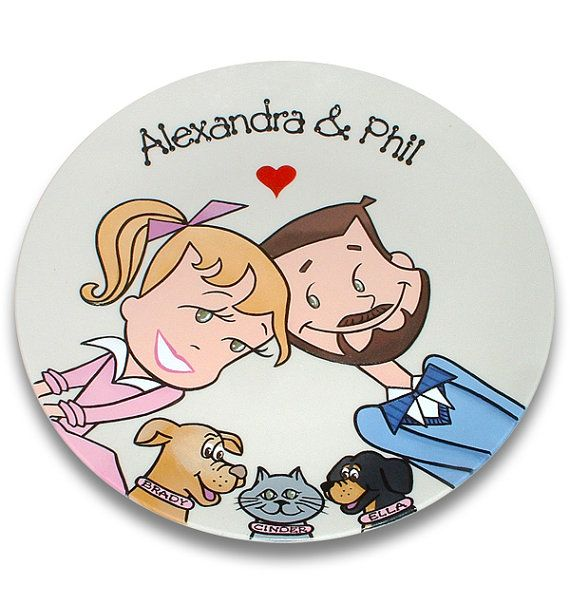 Custom Portrait Souvenir Plate  Starry Eyed by SerendipityCrafts