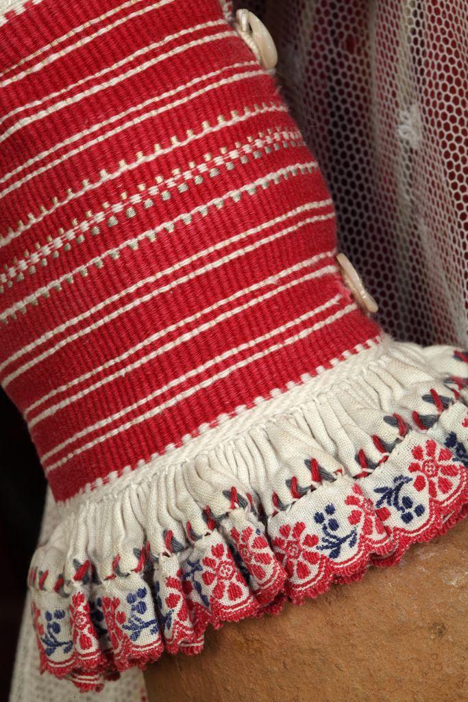Kobiecy strój ludowy - rękaw. Górale szczawniccy, Pieniny, XIX w.
