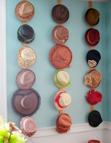 Best 25 hat display ideas on pinterest hat organization for Hat hanging ideas