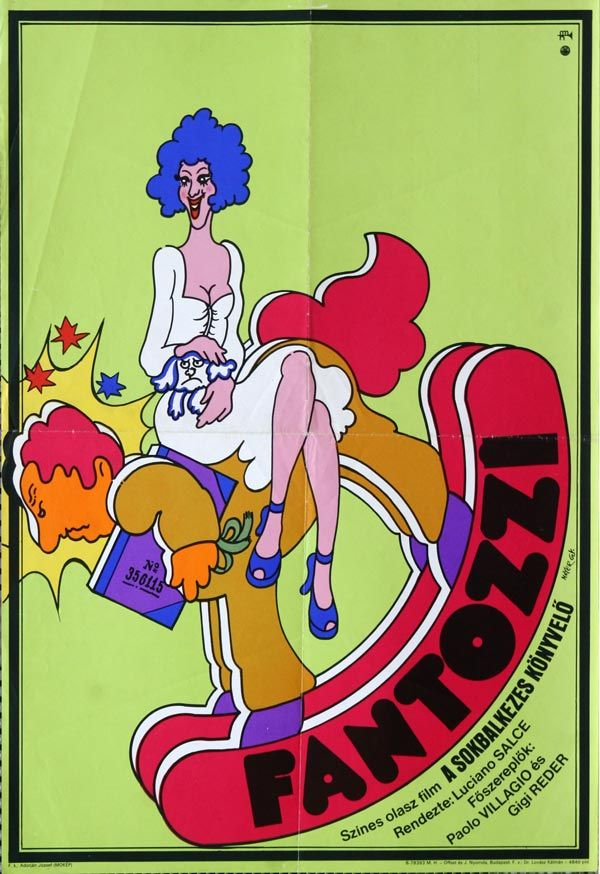 Fantozzi -  Hungarian vintage movie poster