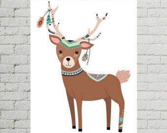 Do you have a tribal nursery that you're decorating? This tribal nursery print will be a perfect (and adorable) addition! Look at the rest of my collection for more tribal nursery decor and tribal nursery art, too! I have plenty of options for your wildlife nursery, woodland nursery and animal nursery. *****  This download includes one high-quality PDF file size A4. How it Works  1. Purchase the listing. 2. You'll be redirected to a download page. 3. Your payment will be quickly confirmed…