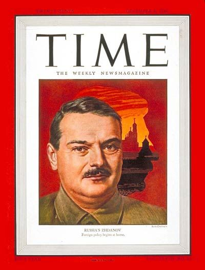 TIME Magazine Cover: Andrei A. Zhdanov -- Dec. 9, 1946