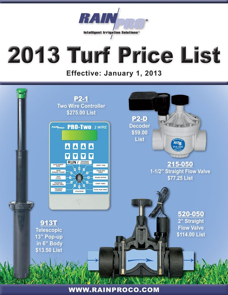 2013 Turf Price List