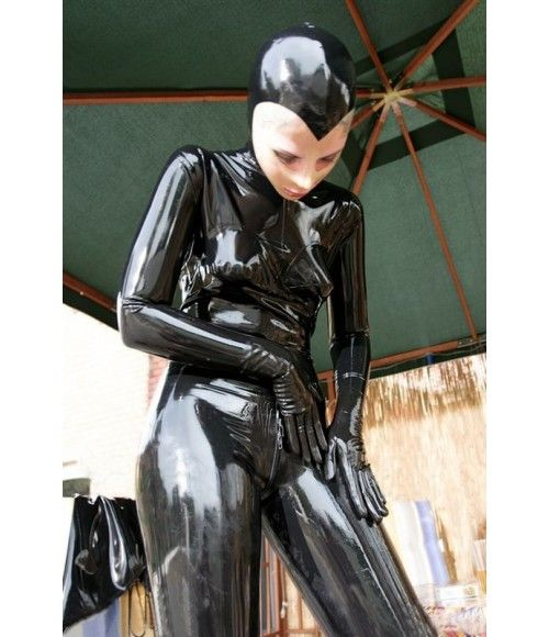 ✦✦✦ Full Body Latex Catsuit with Hood, Gloves and Socks