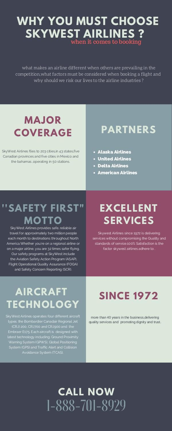 Why you must choose Skywest Airlines flight booking - (Nov. 2016)