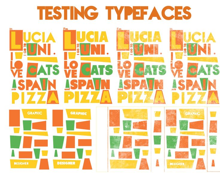 Testing typefaces.