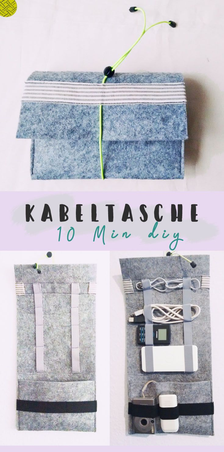 Sewing a cable bag made easy. In just 10 minutes and 4 steps, the perfect gift idea that succeeds in sewing beginners.