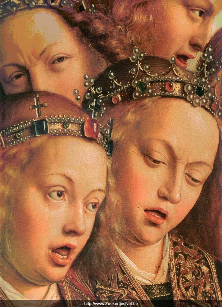 Jan van Eyck (1395-1441) The Ghent Altarpiece: Singing Angels