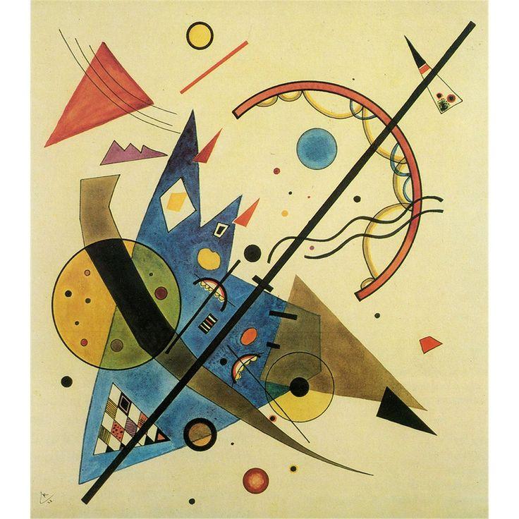 A pintura abstrata do pintor russo Wassily Kandinsky