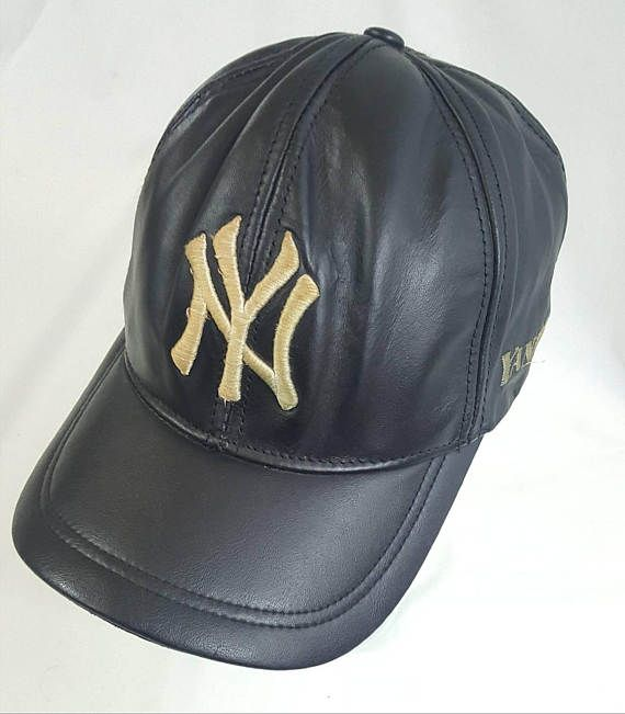 b7a7b62845e91 ... order new york yankees all leather strapback dad hat black vintage 90s  mlb baseball derek jeter ...