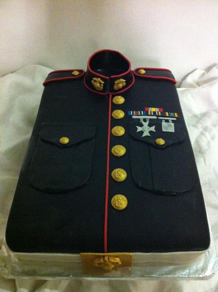 USMC Grooms Cake