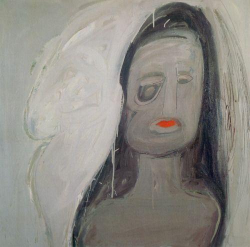 Self-portrait - Eva Hesse, 1961. Oil on canvas, 36 x 36 in. (91.4 x 91.4 cm)