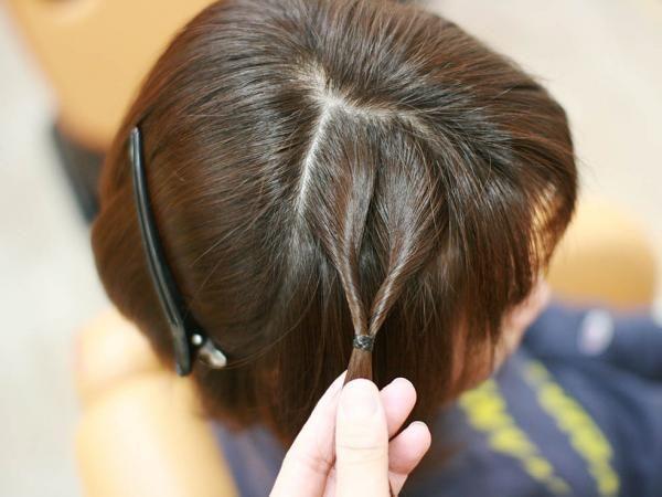 ボブ ショートヘアでも簡単 サイドの 編み込み風くるりんぱ ヘア