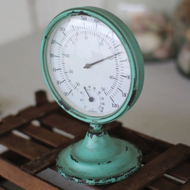 Teal Tabletop Thermometer