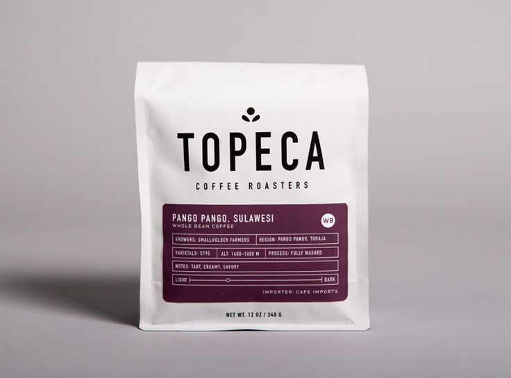 Topeca Coffee Roasters brand identity and packaging by Ghost.