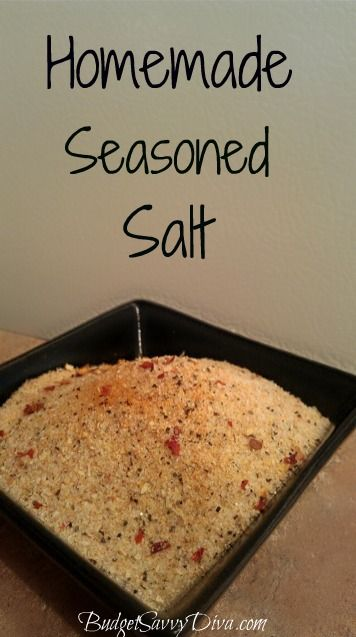Takes a minute to make, gluten - free, perfect for any meal. Homemade Seasoned Salt Recipe: Cups Tables, Red Peppers, Homemade Seasons Salts Recipes, Garlic Powder, Onions Powder, Peppers Flakes, Turmeric Pinch, Teaspoon Onions, Ground Turmeric