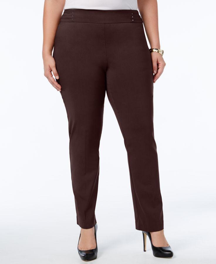 Jm Collection Plus & Petite Plus Size Tummy Control Slim-Leg Pants, Created for Macy's – Waverly Denim