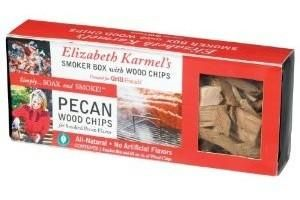 ELIZABETH KARMEL'S GRILL FRIENDS WOOD SMOKER BOX AND PECAN WOOD CHIPS