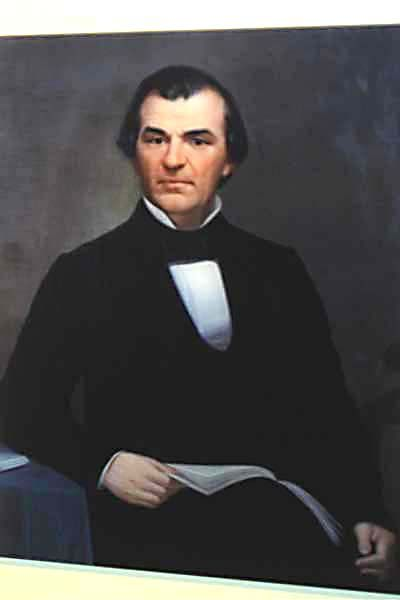 Andrew Johnson, 17th President of USA, 1865-1869.  Was Vice President when Abe Lincoln was president. Andrew Johnson was the 1st American President to be impeached, May 4, 1869 due to his lenient Reconstruction policies and his vetoing of Reconstruction acts.