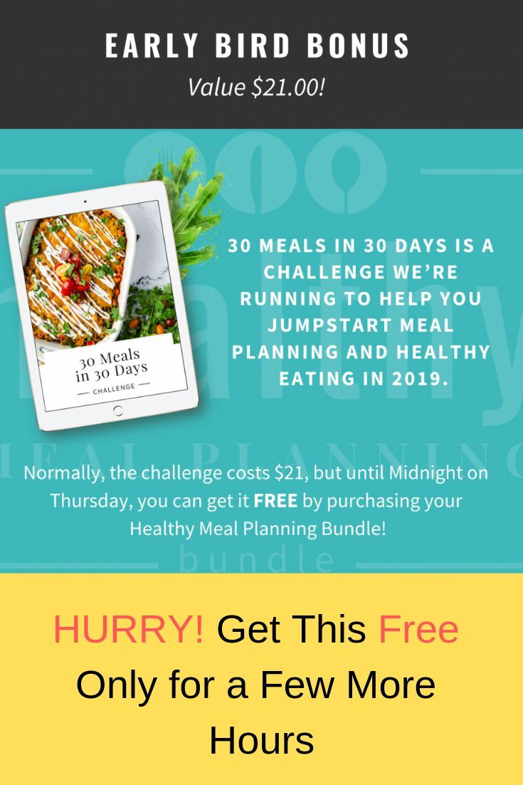 2ff5fa83b8721 Jumpstart your 2019 healthy living resolutions by getting this 30 meals in  30 days challenge of