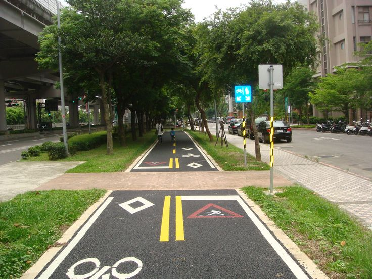 Road signs- Remind cyclist watch for pedestrians #Bike Lanes #Taipei City
