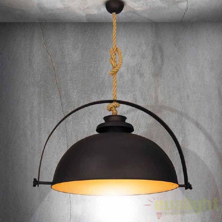Lustra / Pendul design Industrial Style OMAHA diam. 60cm HL-211S-1P60 HL, NOU ! Lustre VINTAGE, RETRO, INDUSTRIA Style, Corpuri de iluminat, lustre, aplice, veioze, lampadare, plafoniere. Mobilier si decoratiuni, oglinzi, scaune, fotolii. Oferte speciale iluminat interior si exterior. Livram in toata tara.  a